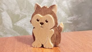 Cute Puppy - scroll saw project for beginner