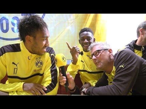 Autogrammstunde mit Pierre-Emerick Aubameyang & Ousmane Dembélé | Kitzbüheler Alpen 2016