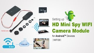 WISEUP HD Mini WIFI Camera Button Setup Instructions for Android Devices (Model Number: WIFI09)