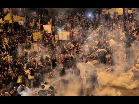 Pro-democracy protests in Hong Kong September 28 (LONG VIDEO)