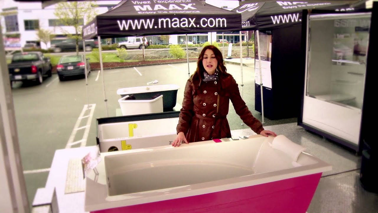 Optik F Freestanding Bathtub Maax Bath Inc Youtube