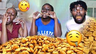 100 Chicken Nuggets In 10 Minutes Challenge