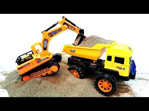 O to do choi cho be, xe may xuc , xe cần cẩu, xe máy xúc cát đồ chơi, Excavator Toy For kids p2