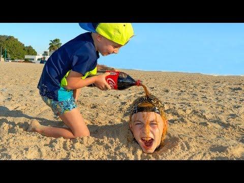 Проучил брата...Что произошло на МОРЕ??? Tisha tricked me ... What happened on the SEA ???
