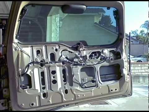 2003 Honda CRV tailgate actuator replacement - YouTube