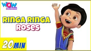 Ringa Ringa Roses (Ring Around The Rosie)   Kids Songs   Baby Songs   Vir   Wow Kidz Rhymes