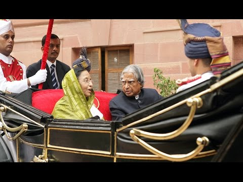 Swearing In Ceremony of The Former President Smt. Pratibha Patil