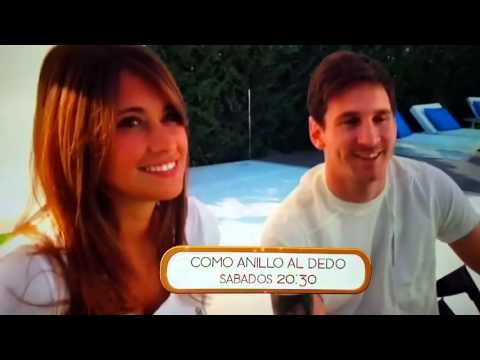 Lionel Messi y Antonella Roccuzzo por primera vez juntos en televisión