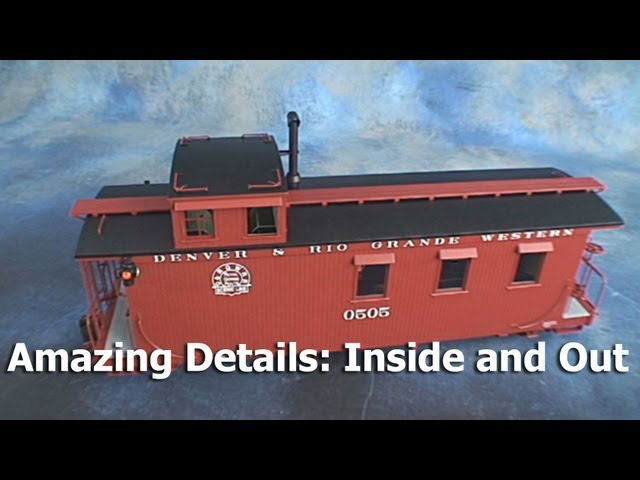 Garden Trains: UnBoxing - Bachmann Long Caboose - An Outside-In Look.