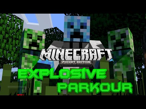 Explosive Parkour Map Review by Troll of MCPE EP.1