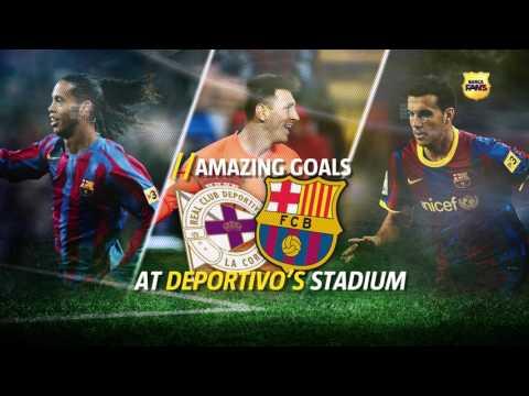 BARÇA FANS I Amazing goals at Deportivo's stadium - Promo