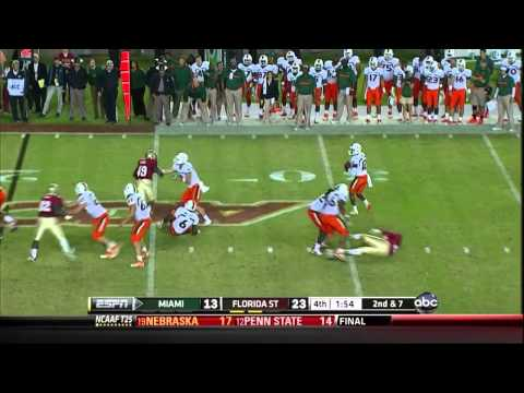 FSU Seminoles - The hardest hitting team in college football history!