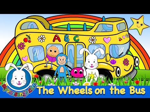 The Wheels On The Bus Go Round And Round - Nursery Rhymes video