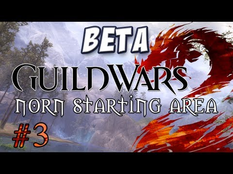 Yogscast - Guild Wars 2 Beta: Norn Part 3 - Bear Cubs and Swimming