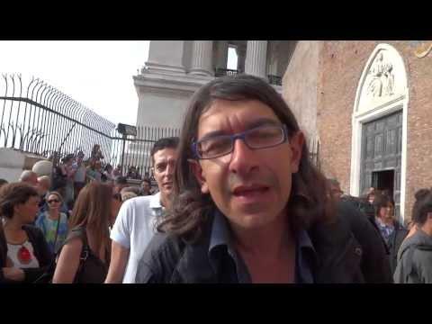 Matrimonio Valeria Marini – Intervista a Paolini a Roma S. Maria in Aracoeli