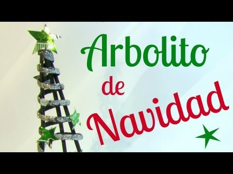 Reciclaje: Arbolito decorativo navideño. Decorative Christmas tree