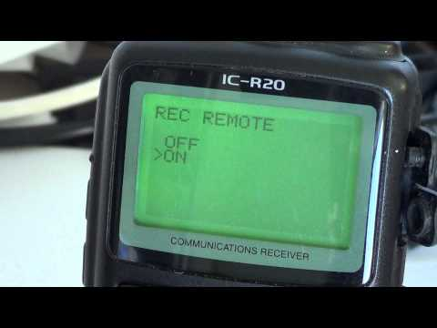 Icom IC R20 - IC Recorder Tutorial part 2 of 2