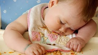 Funny Baby Trying To Stay Awake While Eating|| Funny Baby And Pet