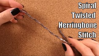 HOW TO: Spiral Twisted Herringbone Stitch (Beading step by step tutorial for beginners)