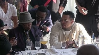Joe Jackson, meet Chris Brown in Cannes after dissing him a few minutes before