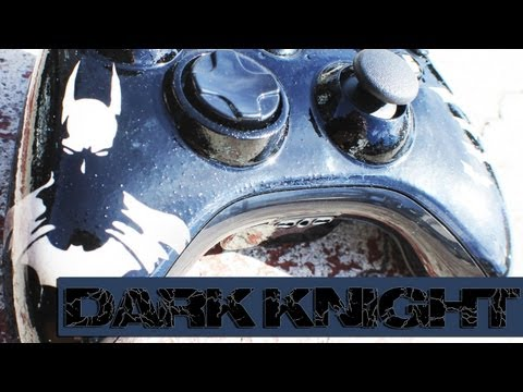 The Dark Knight   Heat Sensitive Paint Job by ProModz.com   Custom Xbox 360 Controller