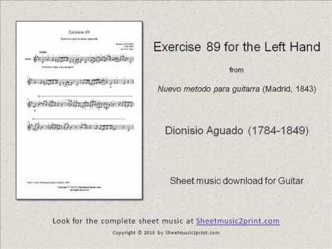 Dionisio Aguado - Exercise 89 In E Minor