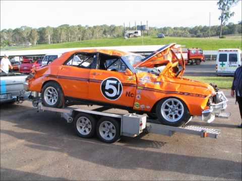 The aftermath - massive crash of an XY GTHO at Lakeside Raceway March 2012 - a tribute