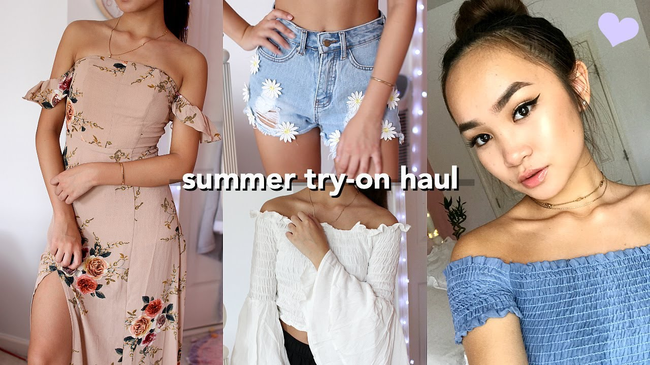 HUGE Try-On Summer Clothing Haul: fashion nova, shein, zara, f21 +more☺︎