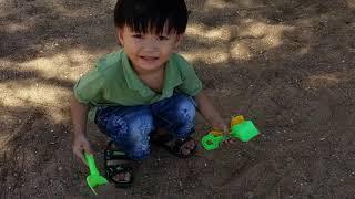 Đồ chơi trẻ em ❤️ Tin Siêu Còi đi chơi biển, trồng cây sò, cây đá