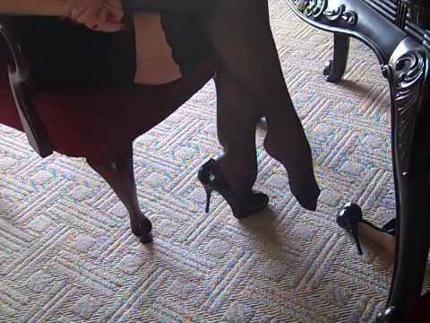 High heels and silk stockings FootFetishKitten