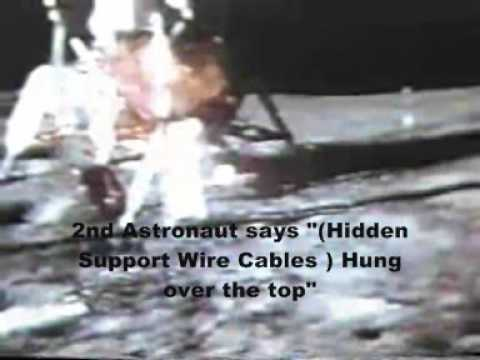 Moon Hoax Apollo 14 : Astronaut's Disney Ceiling Cables Get Tangled in The Communications Antenna