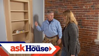 How to Install a Hidden Door/Bookshelf | Ask This Old House