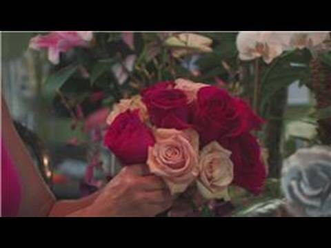 Wedding Floral Arrangements : How to Make a Rose Wedding Bouquet