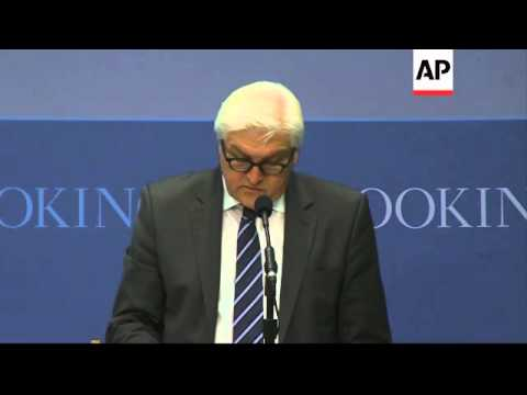 German FM Frank-Walter Steinmeier comments on Ukraine unrest, says he is worried