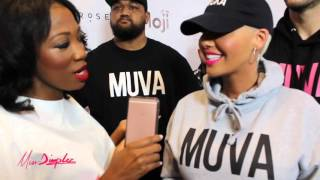 Amber Rose Talks Releasing Muva Mojis with #DimplezTV