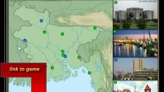 game untuk geografi, 12 kota di Bangladesh