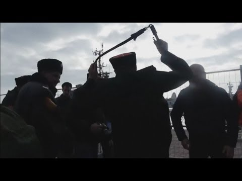 Shocking moment when Pussy Riot were violently attacked by Russian police at Sochi Olympics