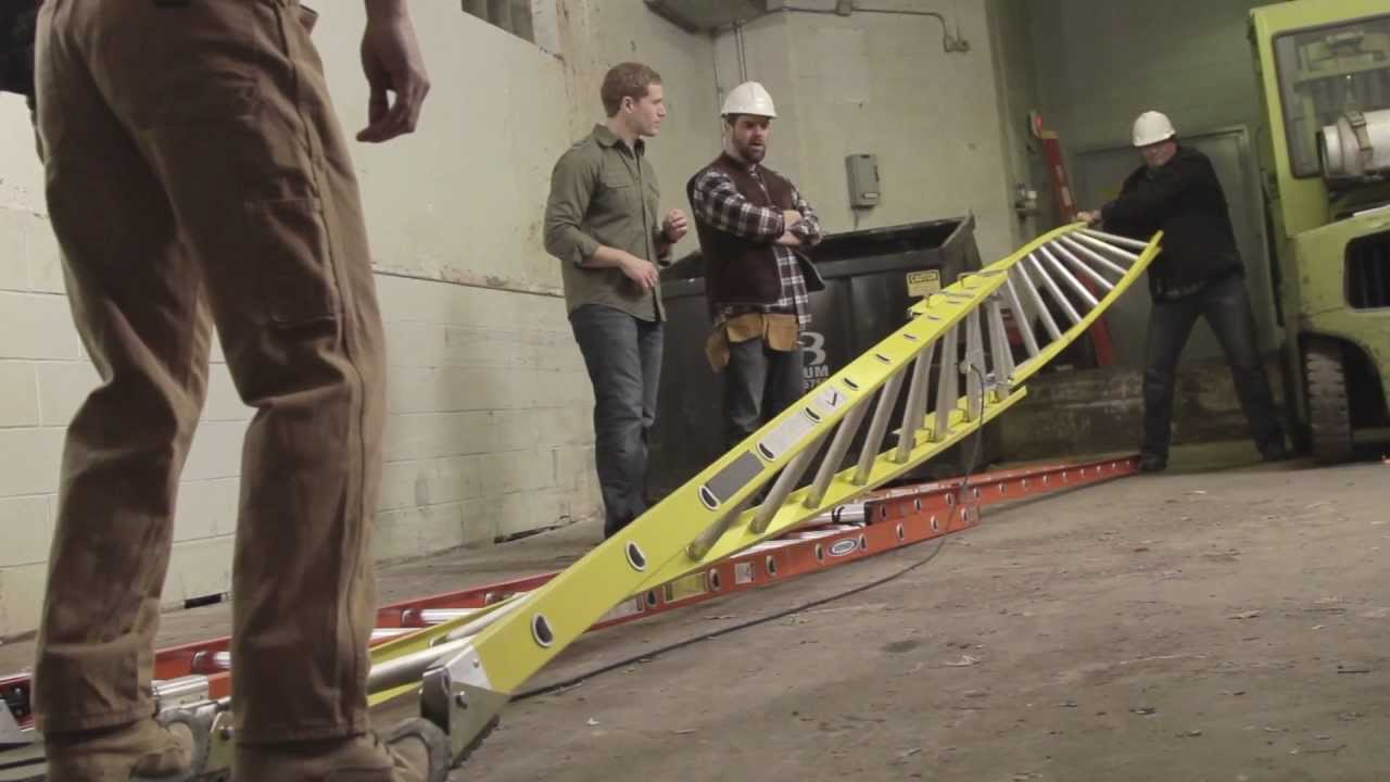 Werner Ladder Head To Head Extension Ladder Challenge