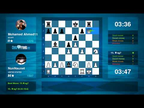 Chess Game Analysis: NunNaunet Mohamed Ahmed11 : 10 (By ChessFriends.com)