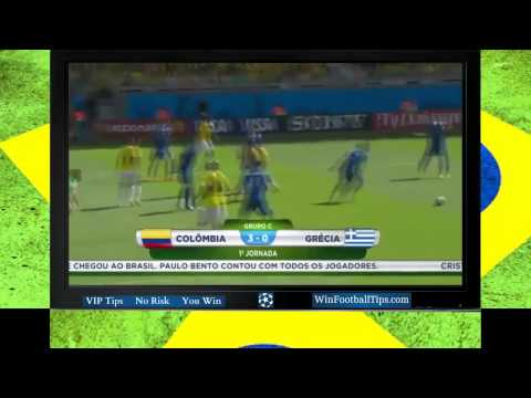 Football WC 2014  Colombia 3 0 Greece Group С Goals Highlights