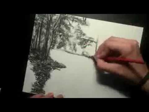 كيفيه رسم منظر طبيعى