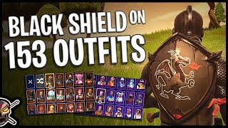 Black Shield Back Bling on 153 Outfits | Black Knight - Fortnite Cosmetics