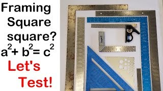 Check if your framing square is square (how to)