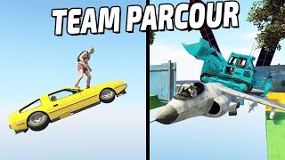HARDCORE LEVEL RUSSIAN TEAM PARCOUR (GTA 5 Online)
