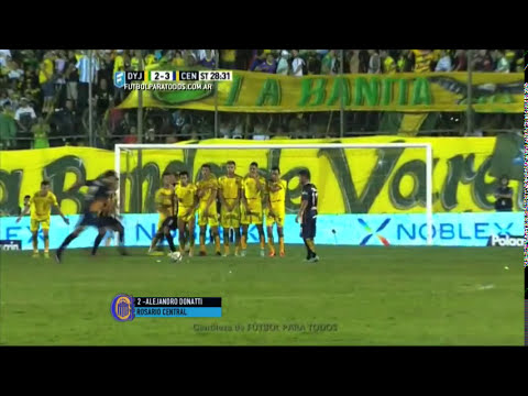Gol de Donatti. Defensa 2 - Central 3. Fecha 8. Primera División 2015. FPT.