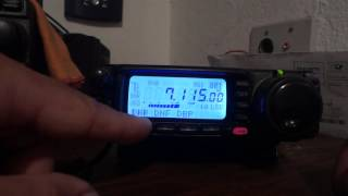 YAESU FT-100D DE PY1RY TEST RX DSP ON OFF + IFS 40 METERS BAND