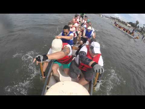 2016 SD Dragon Boat Race - Team Stealth: Heat 1