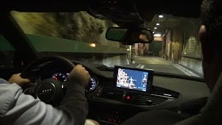 EPIC Audi RS7 Ride in Monaco! TUNNEL Sound, Kickdown & Loud Accelerations