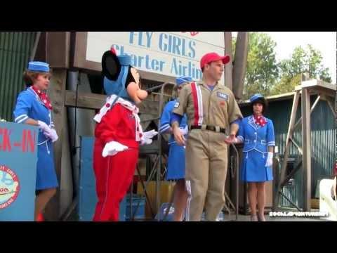 Full Hd Minnie's Fly Girls Charter Airline Premiere - Talking Minnie Mouse - Disneyland Resort video