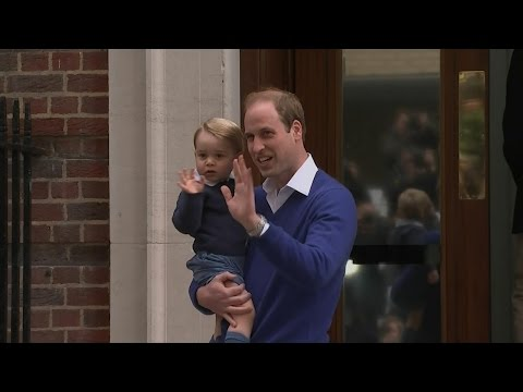 Prince William Takes George to Hospital to See Newborn Sister
